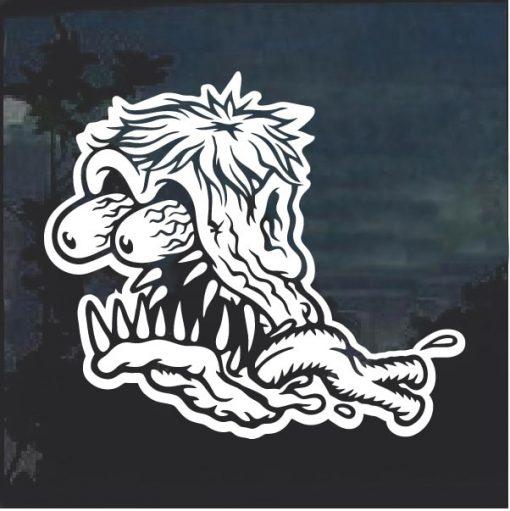 Monster Head Ratfink 3 Window Decal Sticker
