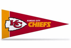 NFL Football Kansas City Chiefs Pennant small 4 x 9 Officially License