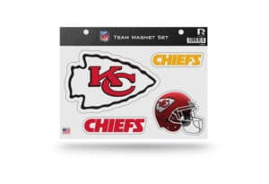 NFL Football Kansas City Chiefs Team Magnet Set Officially License