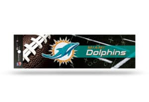 NFL Football Miami Dolphins Bumper Sticker Officially Licensed