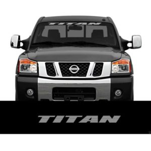 Nissan Titan Windshield Banner Decal Sticker a3