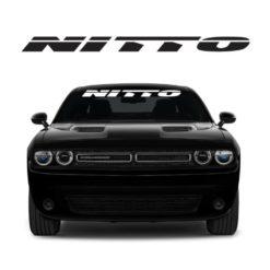 Nitto Windshield Banner Decal Sticker