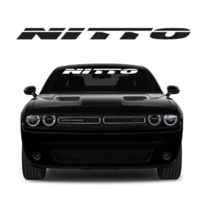 Nitto Windshield Banner Decal Sticker