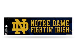 Notre Dame Fighting Irish Bumper Sticker Officially Licensed