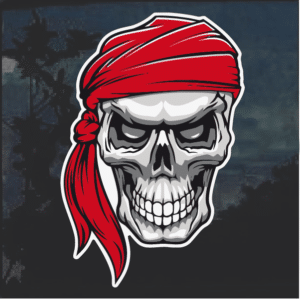 Pirate skull Window Decal Sticker