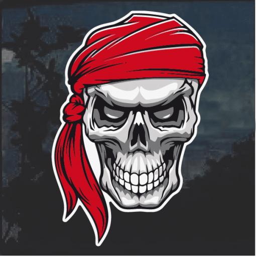 Pirate skull Window Decal Sticker