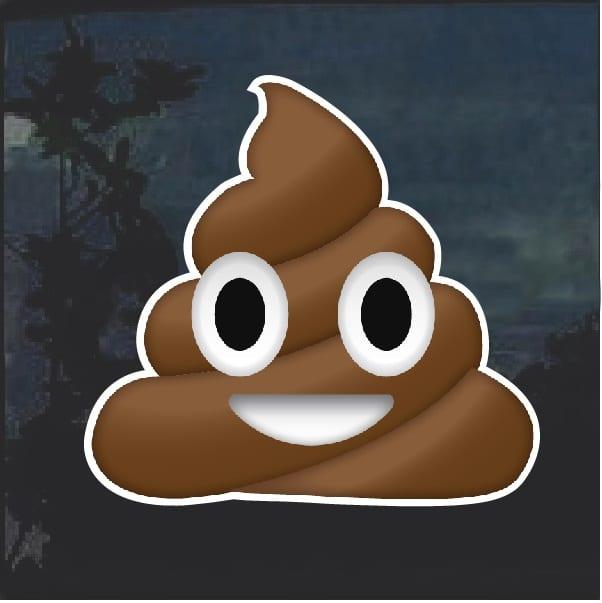 Poop Emoji Decal Sticker Custom Sticker Shop