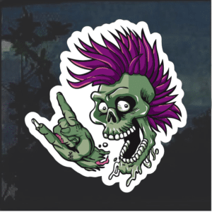Punk Rock Skull Window Decal Sticker
