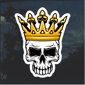 Skull and Crown King Window Decal Sticker