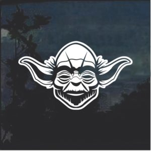 Star Wars Yoda 3 Window Decal Sticker