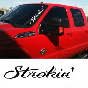Ford Strokin Windshield Banner Decal Sticker