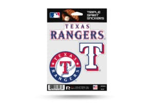 Texas Rangers Window Decal Set Sticker Officially Licensed MLB
