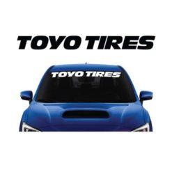Toyo Tires Windshield Banner Decal Sticker
