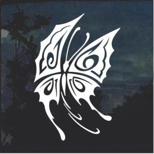 Tribal Butterfly d8 Window Decal Sticker