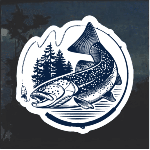 Trout Fish Window Decal Sticker