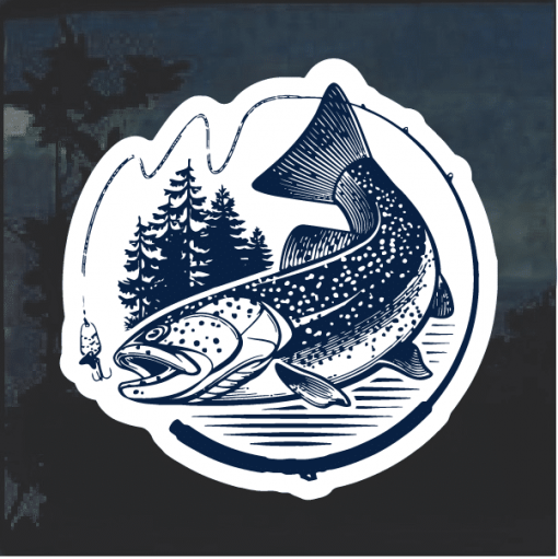 Trout Fish Window Decal Sticker