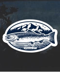 Trout Fishing Window Decal Sticker
