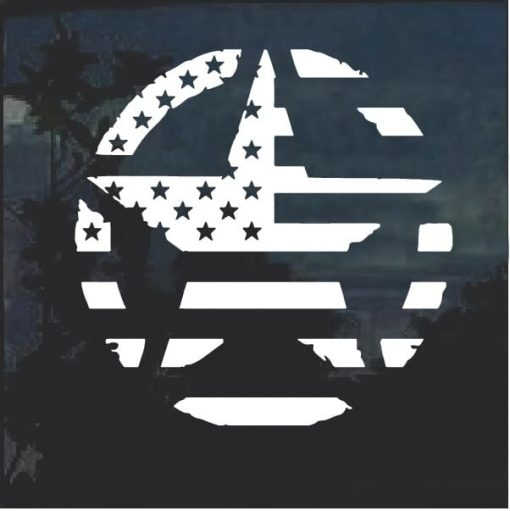 USA American Flag Military Star Vinyl Window Decal Sticker