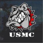 USMC Marines Devil Dog Window Decal Sticker