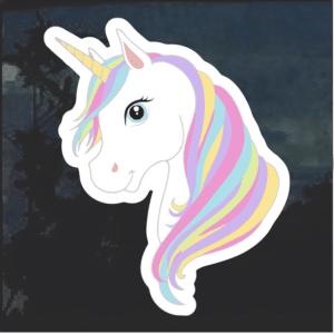 Unicorn Cartoon color Window Decal Sticker