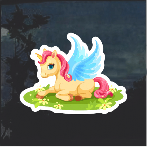 Unicorn Sparkling Window Decal Sticker