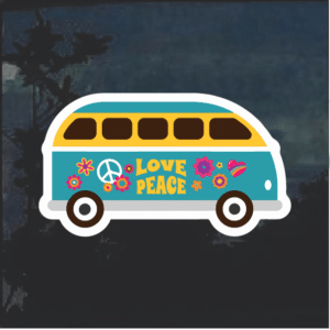 VW Hippie Van Window Decal Sticker