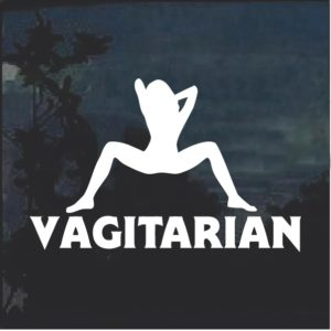 Vagitarian 2 Window Decal Sticker