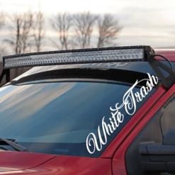 White Trash Windshield Banner Decal Sticker