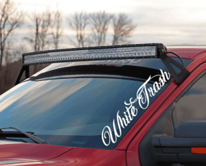 White Trash Windshield Banner Decal Sticker
