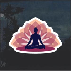 Yoga lotus Window Decal Sticker