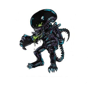 Alien vs Predator Laptop Decal Sticker Officially Licensed