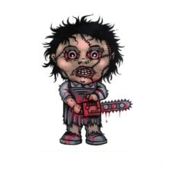 Texas Chainsaw Leather Face Laptop Decal Sticker Officially Licensed