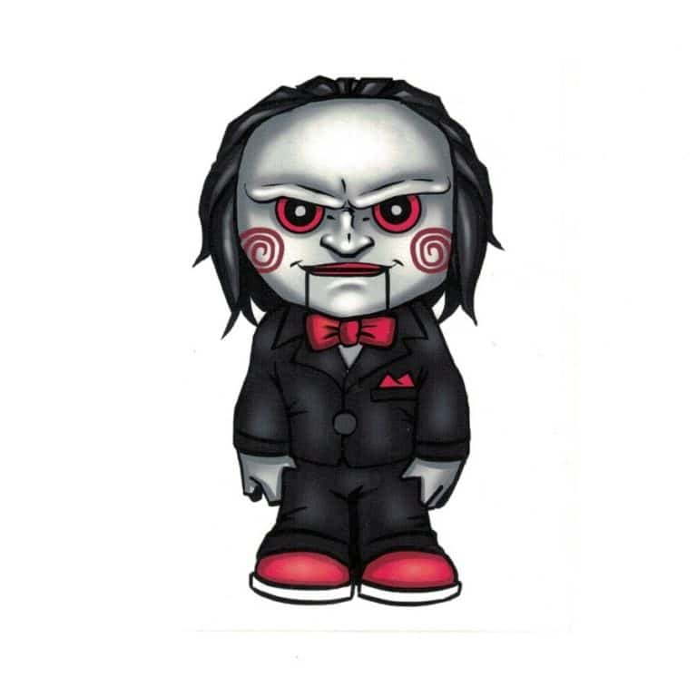 Saw Jigsaw Clown Doll Laptop Decal Sticker Officially ...