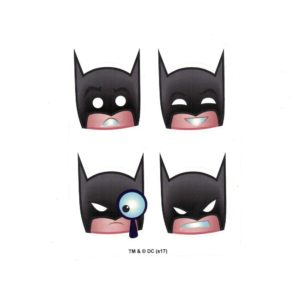Batman Emoji Head Set of 4 Licensed DC Comics Stickers