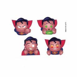 Superman Emoji Head Set of 4 Licensed DC Comics Stickers A