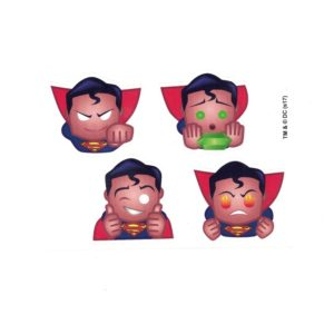 Superman Emoji Head Set of 4 Licensed DC Comics Stickers A