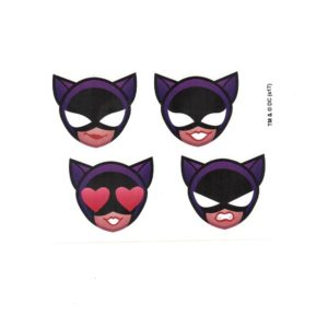 Bat girl Emoji Head Set of 4 Licensed DC Comics Stickers