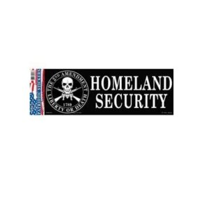 2nd AMENDMENT Homeland Security 3x10 Full Color Decal Sticker Licensed