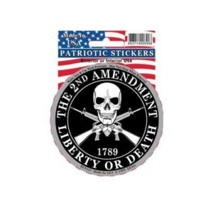 2nd AMENDMENT Liberty or Death Full Color Window Decal Sticker Licensed
