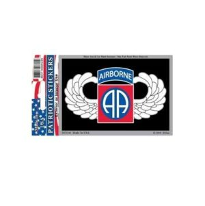 US Army 82nd Airborne Full Color Window Decal Sticker Licensed