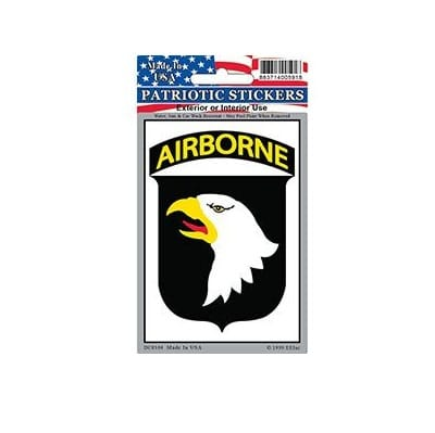 US Army 101st Airborne Full Color Window Decal Sticker Licensed