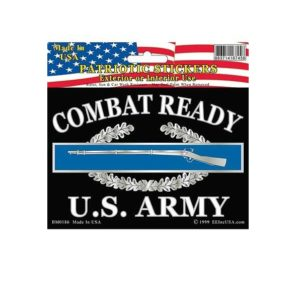 US Army Combat Ready CIB Full Color Window Decal Sticker Licensed