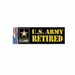 US Army Retired Full Color Window Decal Sticker Licensed