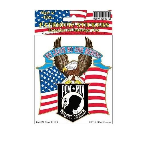 POW MIA Eagle Full Color II Window Decal Sticker Licensed