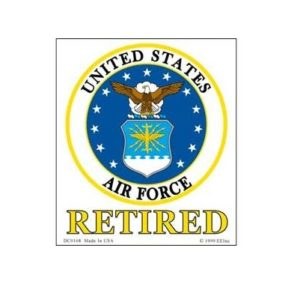 USAF Air Force Retired Full Color Window Decal Sticker Licensed