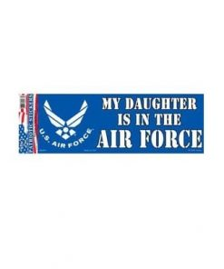 USAF Air Force Daughter 3x10 Full Color Decal Sticker Licensed