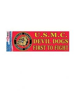 USMC Marine Devil Dog 3x10 Full Color Window Decal Sticker Licensed