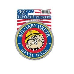 USMC Devil Dog Full Color Window Decal Sticker