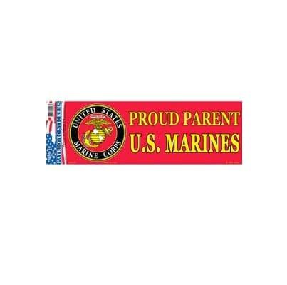 USMC Marines Proud Parents EGA 3x10 Full Color Window Decal Sticker Licensed