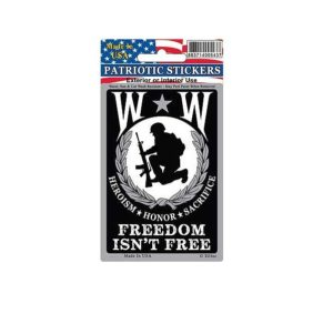 Wounded Warrior Freedom Full Color Window Decal Sticker Licensed
